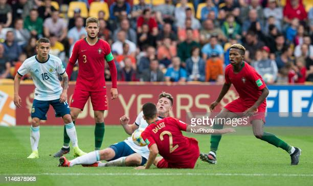 Agustin Urzi Diogo Queiros Adolfo Gaich Diogo Dalot Florentino Luis during the 2019 FIFA U20 World Cup group F match between Portugal and Argentina...