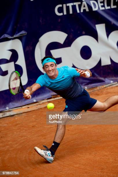 Agustin Velotti during match between Benjamin Hassan and Agustin Velotti during day 4 at the Internazionali di Tennis Citt dell'Aquila in L'Aquila,...