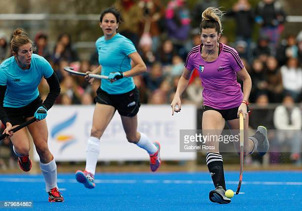Agustina Albertarrio of Argentina drives the ball during an International Friendly match between Argentina and Ireland at CenARD on July 24 2016 in...