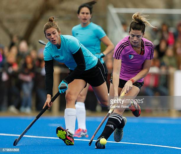 Agustina Albertarrio of Argentina fights for the ball during an International Friendly match between Argentina and Ireland at CenARD on July 24 2016...