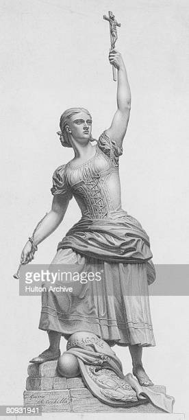 Agustina de Aragon the Maid of Saragossa a heroine of the Spanish War of Independence circa 1808 After inspiring the Spanish troops at the Siege of...