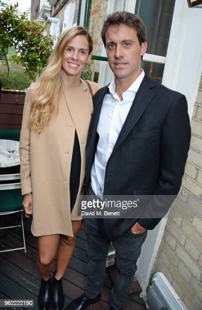 Agustina Wernicke and Facundo Pieres attend a private dinner hosted by Cartier to celebrate the opening of the British Polo Season at Casa Cruz on...
