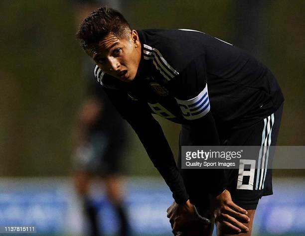 Agustín Almendra of the Argentina looks on during the U20 International friendly match between Argentina and Japan at Pinatar Arena on March 23 2019...
