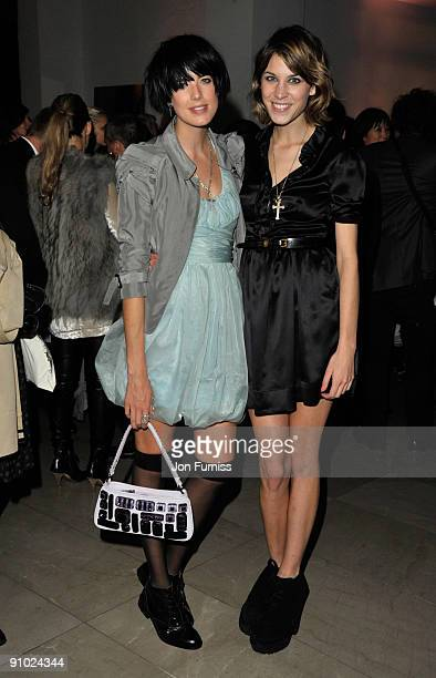 Agyness Deyn and Alexia Chung attends the Burberry after party during London Fashion Week Spring Summer 2010 on September 22, 2009 in London, United...