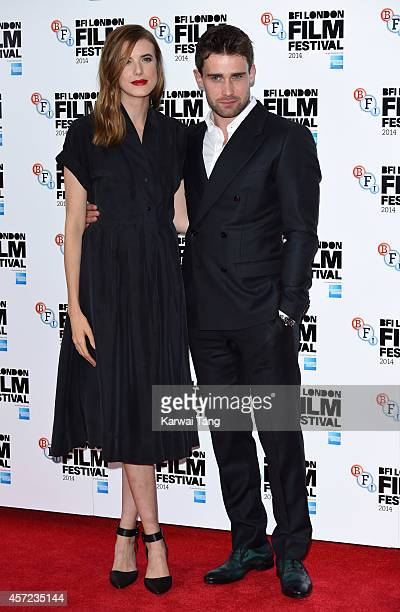 """Agyness Deyn and Christian Cooke attend a screening of """"Electricity"""" during the 58th BFI London Film Festival at Vue West End on October 14, 2014 in..."""
