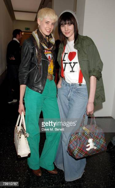 Agyness Deyn and Georgia Frost attend the O2 Undiscovered 2007 final party celebrating the end of a new initiative to find up-and-coming musical...