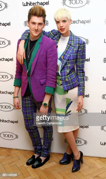 Agyness Deyn and Henry Holland arrive at TOD's Art Plus film party on March 6, 2008 in London, England.