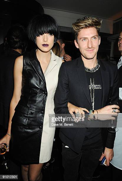 Agyness Deyn and Henry Holland attend the private dinner hosted by editor of British Vogue Alexandra Shulman in association with NetAPortercom in...