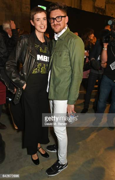 Agyness Deyn and Henry Holland pose backstage at the House of Holland show during the London Fashion Week February 2017 collections on February 18...