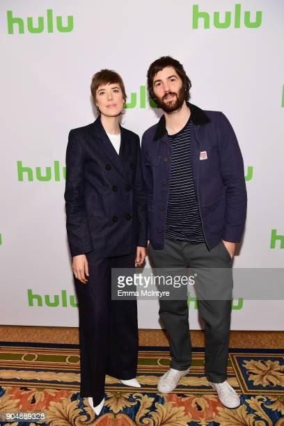 Agyness Deyn and Jim Sturgess attend the Hulu Winter TCA at Langham Hotel on January 14 2018 in Pasadena California