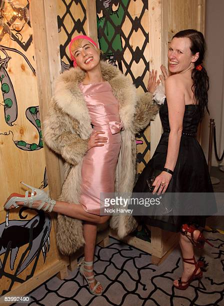 Agyness Deyn and Katie Grand attend fashion magazine Love's Christmas Tea And Treasure Hunt at Royal Academy of Arts on December 10, 2008 in London,...