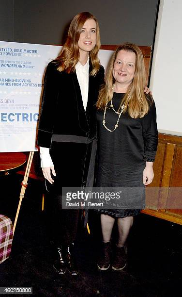 """Agyness Deyn and producer Clare Duggan attend a special screening of """"Electricity"""" at The Everyman Cinema on December 10, 2014 in London, England."""
