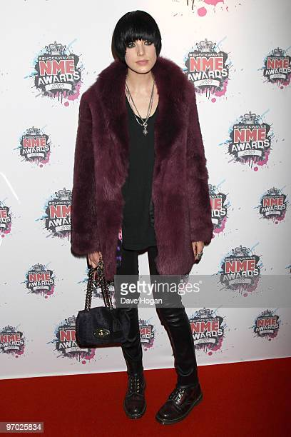 Agyness Deyn arrives at the Shockwaves NME Awards 2010 held at Brixton Academy on February 24, 2010 in London, England.