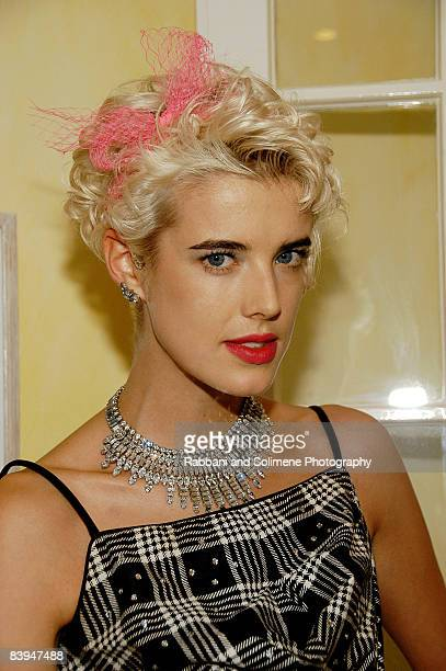 Agyness Deyn attend a cocktail party celebrating the 5th CFDA/Vogue Fashion Fund at a private residence on October 14, 2008 in New York City.