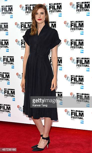 Agyness Deyn attends a screening of Electricity during the 58th BFI London Film Festival at Vue West End on October 14 2014 in London England