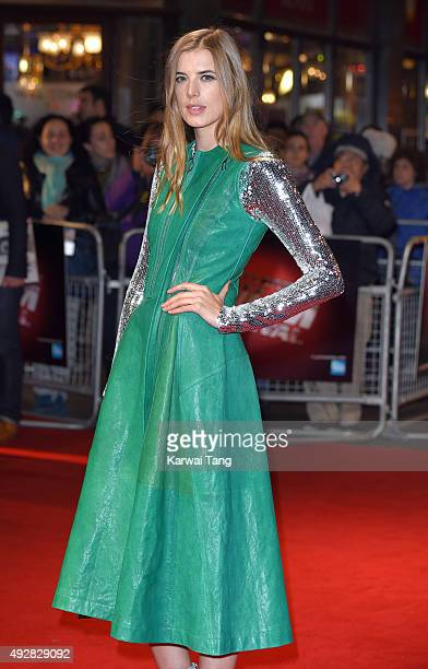 Agyness Deyn attends a screening of 'Sunset Song' during the BFI London Film Festival at Vue West End on October 15 2015 in London England