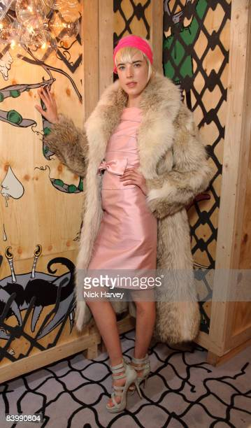 Agyness Deyn attends fashion magazine Love's Christmas Tea And Treasure Hunt at Royal Academy of Arts on December 10, 2008 in London, England.