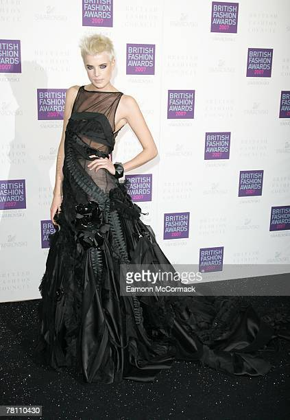 Agyness Deyn attends the British Fashion Awards at the Royal Horticultural Halls on November 27, 2007 in London, England.