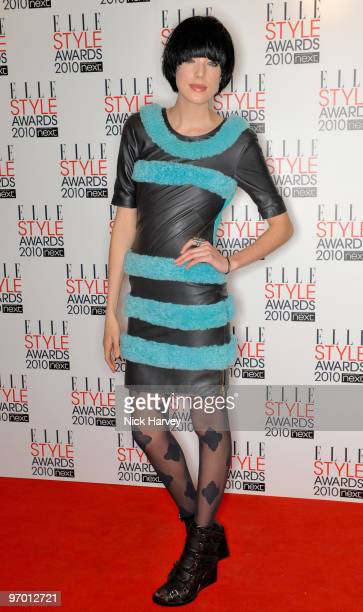 Agyness Deyn attends the ELLE Style Awards 2010 at Grand Connaught Rooms on February 22, 2010 in London, England.