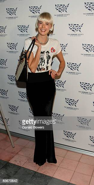 Agyness Deyn attends The Humane Society of the United States Cool vs Cruel Awards 2008 at The Bowery Hotel on November 12 2008 in New York City