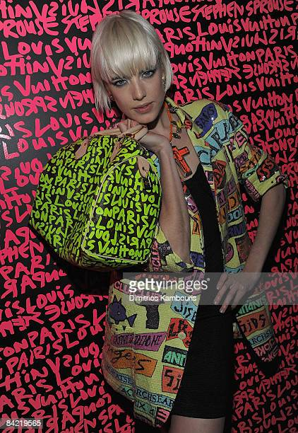 Agyness Deyn attends the tribute to Stephen Sprouse after party hosted by Louis Vuitton at the Bowery Ballroom on January 8 2009 in New York City