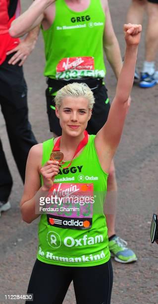 Agyness Deyn completes the Virgin London Marathon on April 17 2011 in London England