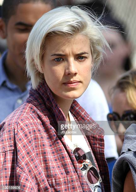 Agyness Deyn is seen at a Farmers Market on October 23, 2011 in Los Angeles, California.
