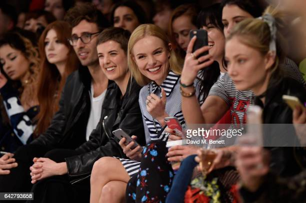 Agyness Deyn Kate Bosworth Daisy Lowe and Pixie Geldof attend the Woody Woodpecker x House of Holland AW17 show at London Fashion Week at Tate Modern...