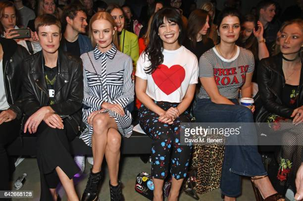 Agyness Deyn Kate Bosworth Daisy Lowe Pixie Geldof and Clara Paget attend the House of Holland show during the London Fashion Week February 2017...