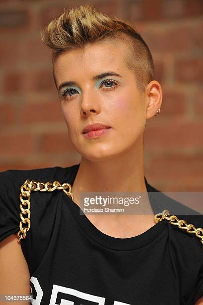 Agyness Deyn reveals the new Mini design concept at The Vinyl Factory Gallery on September 23, 2010 in London, England.