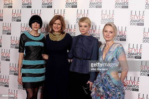 Agyness Deyn, Sarah Brown, Carey Mulligan and Lorraine Candy arrive for the ELLE Style Awards 2010 at the Grand Connaught Rooms on February 22, 2010...