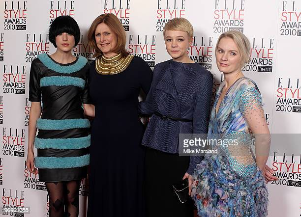 Agyness Deyn Sarah Brown Carey Mulligan and Lorraine Candy arrive for the ELLE Style Awards 2010 at the Grand Connaught Rooms on February 22 2010 in...