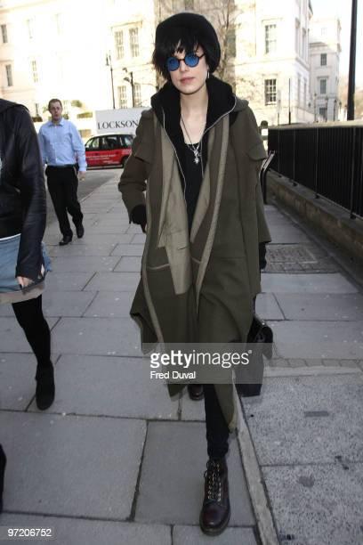 Agyness Deyn sighting on March 1 2010 in London England