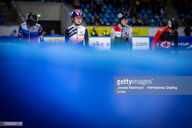 Ah Rum Noh of Korea looks on in the 1500m semi final during day 2 of the ISU World Cup Short Track at EnergieVerbund Arena on February 9 2020 in...