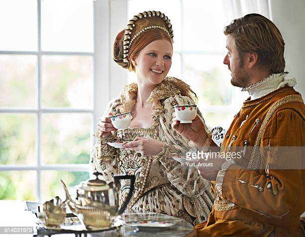 ah tea...the mark of the civilized! - king royal person stock pictures, royalty-free photos & images