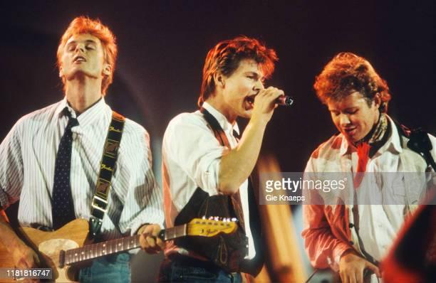 Ha, Magne Furuholmen, Morten Harket, Paul Waaktaar-Savoy, Diamond Awards Festival, Sportpaleis, Antwerp, Belgium, 19th November 1988.