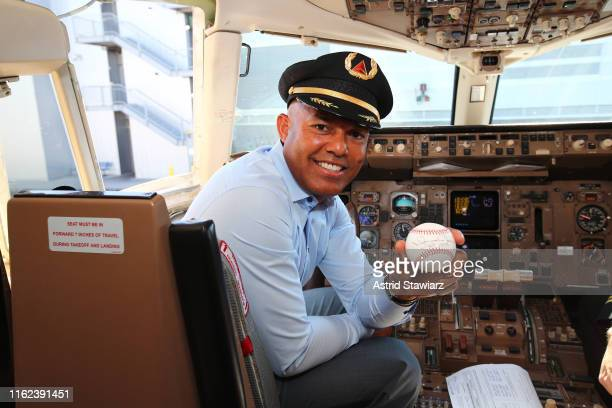 Ahead of his Hall of Fame induction, former New York Yankees pitcher and unanimous Hall of Fame selection Mariano Rivera attends as Delta Air Lines...
