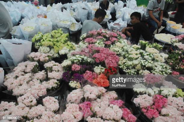 Ahead of the Celebration of Valentine's Day and Chinese New Year in February brings benefits to the flower traders in Rawa Belong Flower Market...