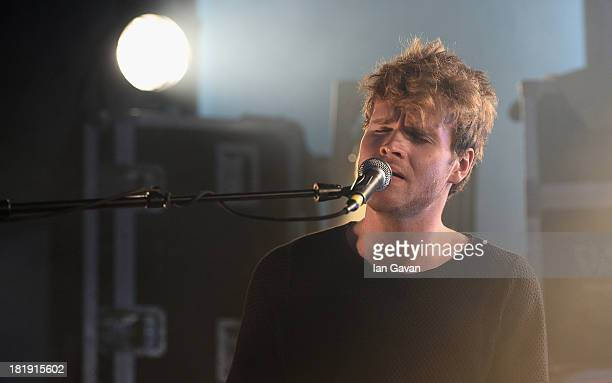 Ahead of the fifth annual Arthur's Day celebrations Dublin based band Kodaline perform at the Guinness Storehouse which has been transformed into a...