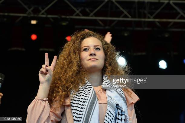Ahed Tamimi in Madrid on 29th September 2018 Ahed Tamimi to take part in the FiestaPCE18 in a great act of solidarity with Palestine people