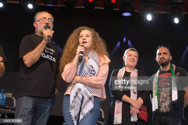 Ahed Tamimi seen speaking during the tour Ahed Tamimi on her European tour during the Spanish Communist festivities Party She is an activist who was...