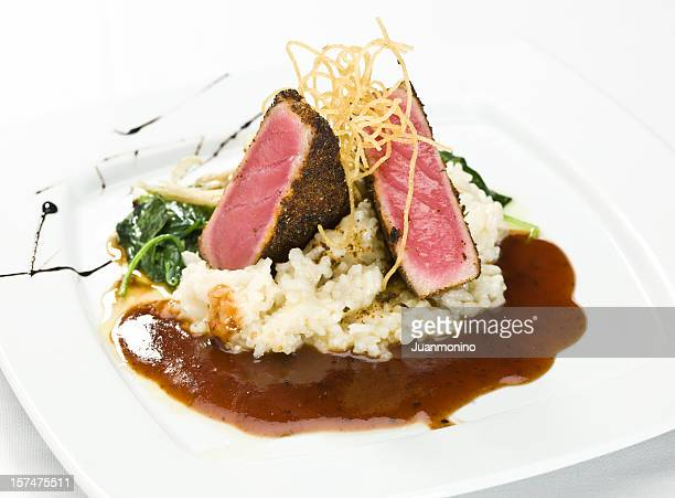 ahi tuna fillet - course meal stock pictures, royalty-free photos & images