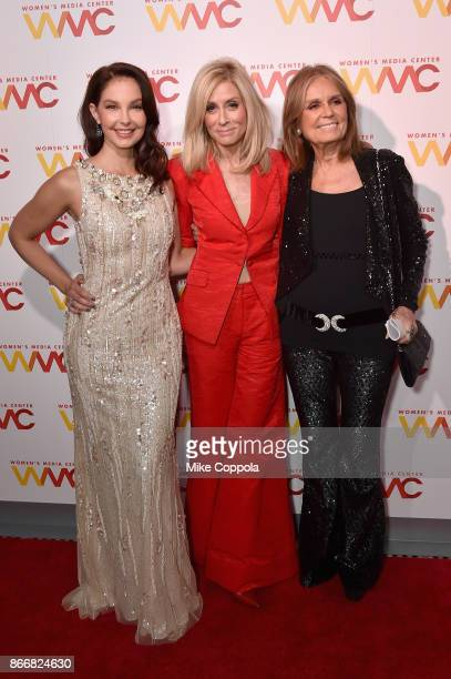 Ahley Judd Judith Light and Gloria Steinem attend the Women's Media Center 2017 Women's Media Awards at Capitale on October 26 2017 in New York City