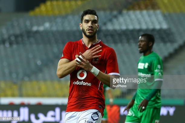 Ahly's Walid Azaro Celebrate after score goal for Alahly during the Egypt Primer League Fixtures 22 Match Between AlAhly and Alittihad in Borg Alarab...