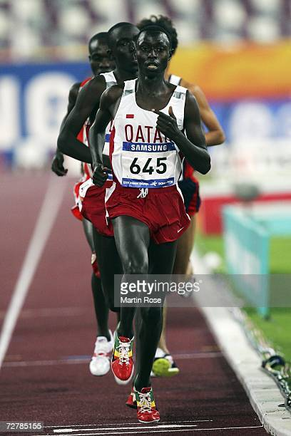 Ahmad Abdullah of Qatar competes in the Men's 10000m Final during the 15th Asian Games Doha 2006 at the Khalifa Stadium December 9 2006 in Doha Qatar...