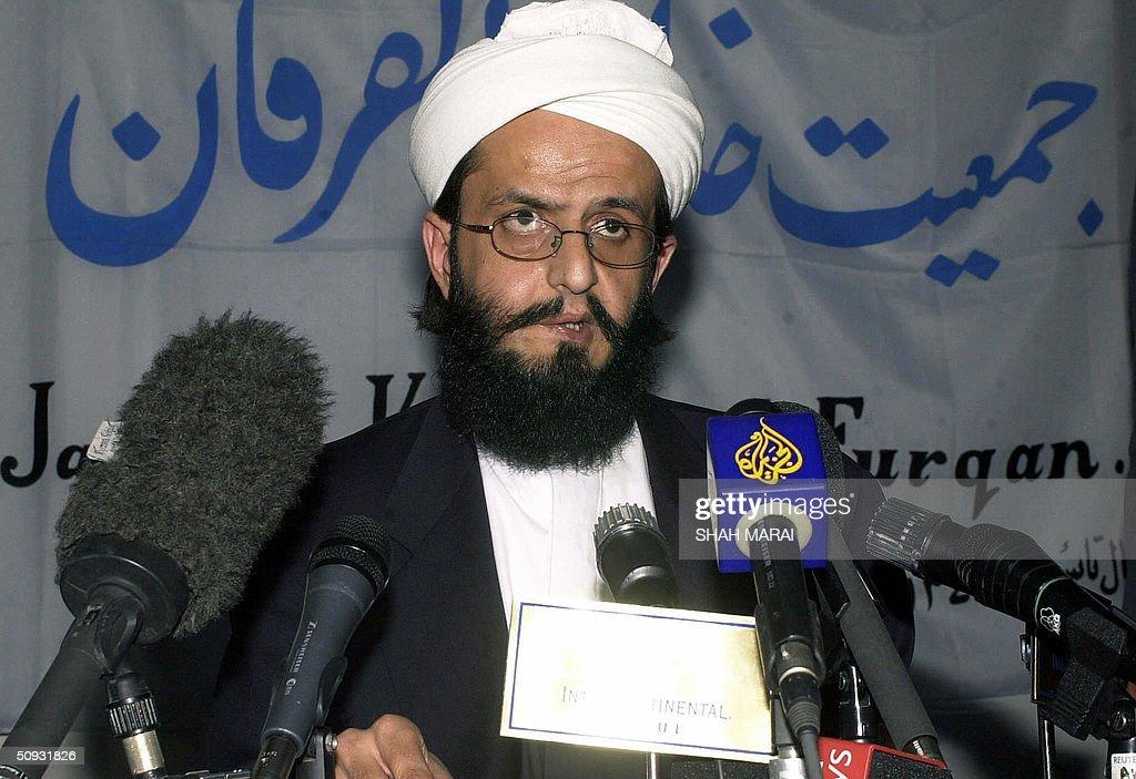 Ahmad Amin Mojadidi,  leader of Afghanis : News Photo