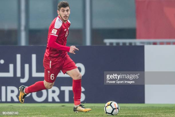 Ahmad Ashkar of Syria in action during the AFC U23 Championship China 2018 Group D match between Australia and Syria at Kunshan Sports Center on 11...