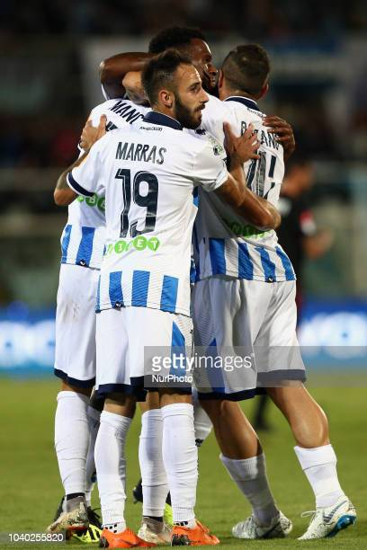 Ahmad Benali of FC Crotone in action during the Italian Serie B 2018/2019 match between Pescara Calcio 1936 FC and FC Crotone at Adriatico...