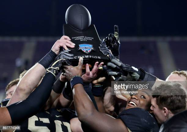 Ahmad Bradshaw of the Army Black Knights celebrates after the Army Black Knights beat the San Diego State Aztecs 4235 in the Lockheed Martin Armed...