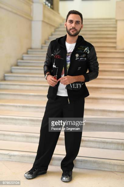 Ahmad Daabas attends the Valentino Menswear Spring/Summer 2019 show as part of Paris Fashion Week on June 20 2018 in Paris France